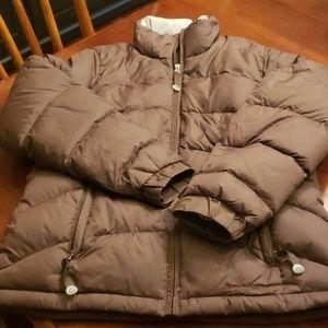L.L.Bean Puffy Jacket REG small Brown OFJS8 EUC